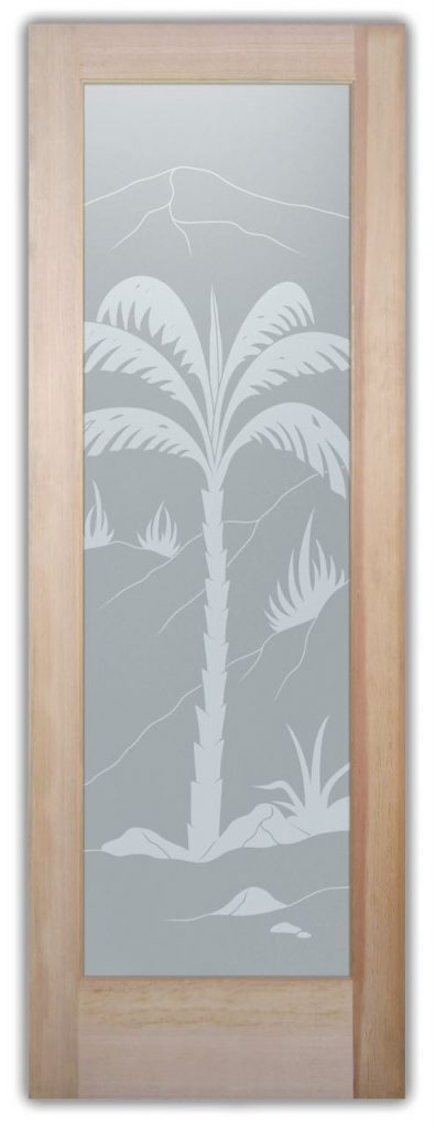 Interior Door Frosted Glass Tropical Sans Soucie