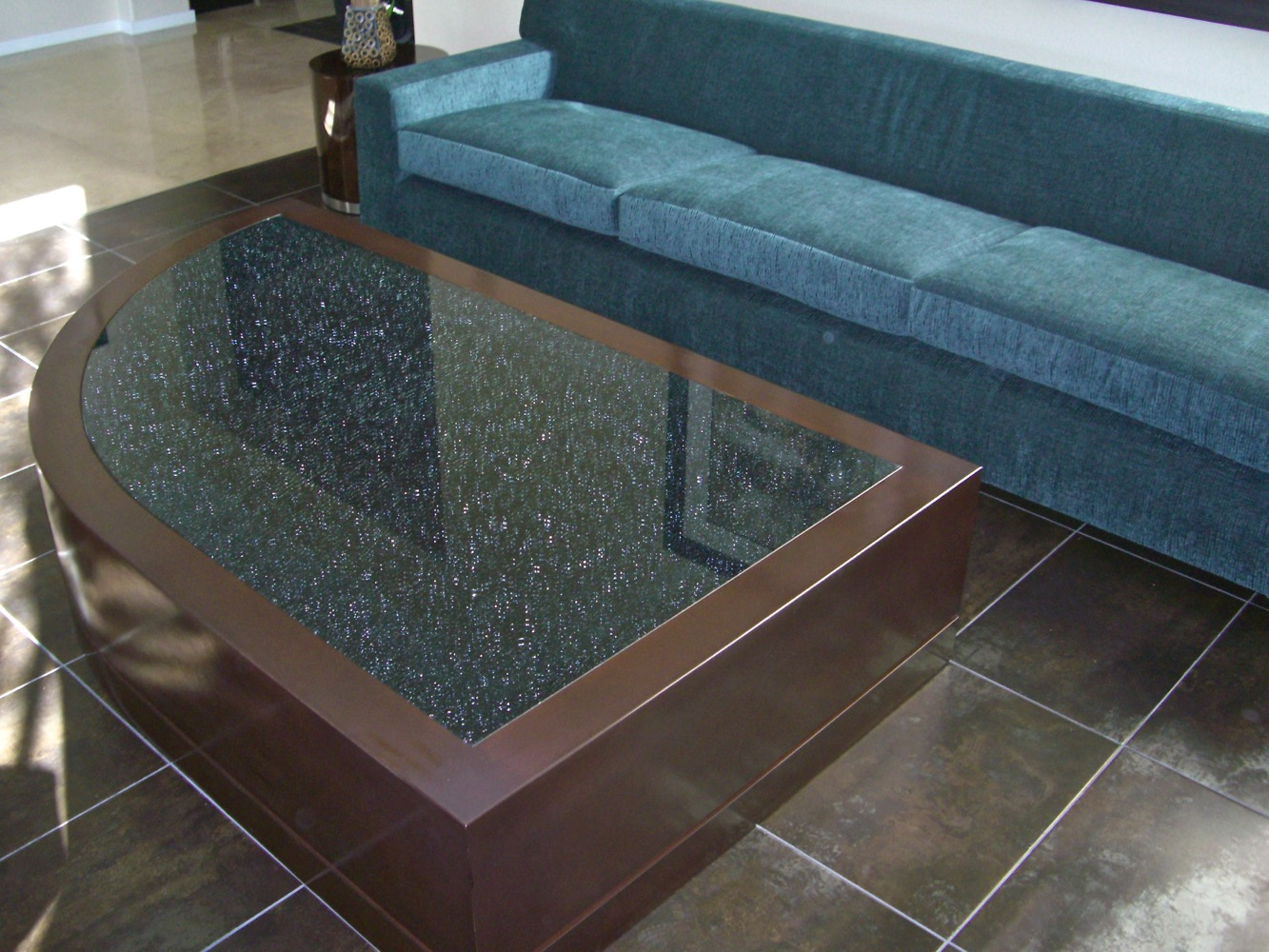 Grey Mirror Shattered Glass Coffee Tables L Sans Soucie