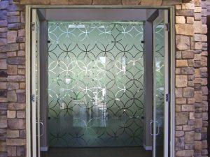 Partition with Etched Glass Art Deco circles Sans Soucie
