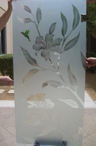 Shower Enclosures Etched Glass Floral hummingbird Sans Soucie