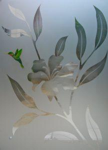 Shower Enclosures Etched Glass Foliage Sans Soucie