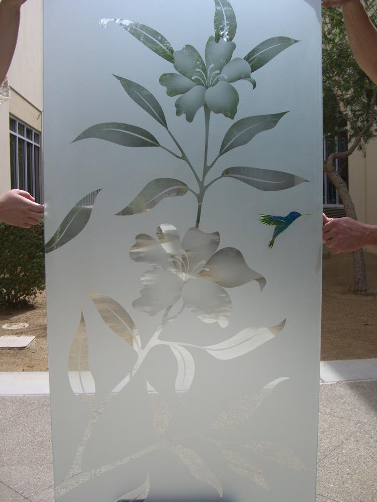 Shower Enclosures Etched Glass Tropical Sans Soucie