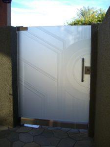 Glass Gates with Etched Glass Art Deco Sans Soucie