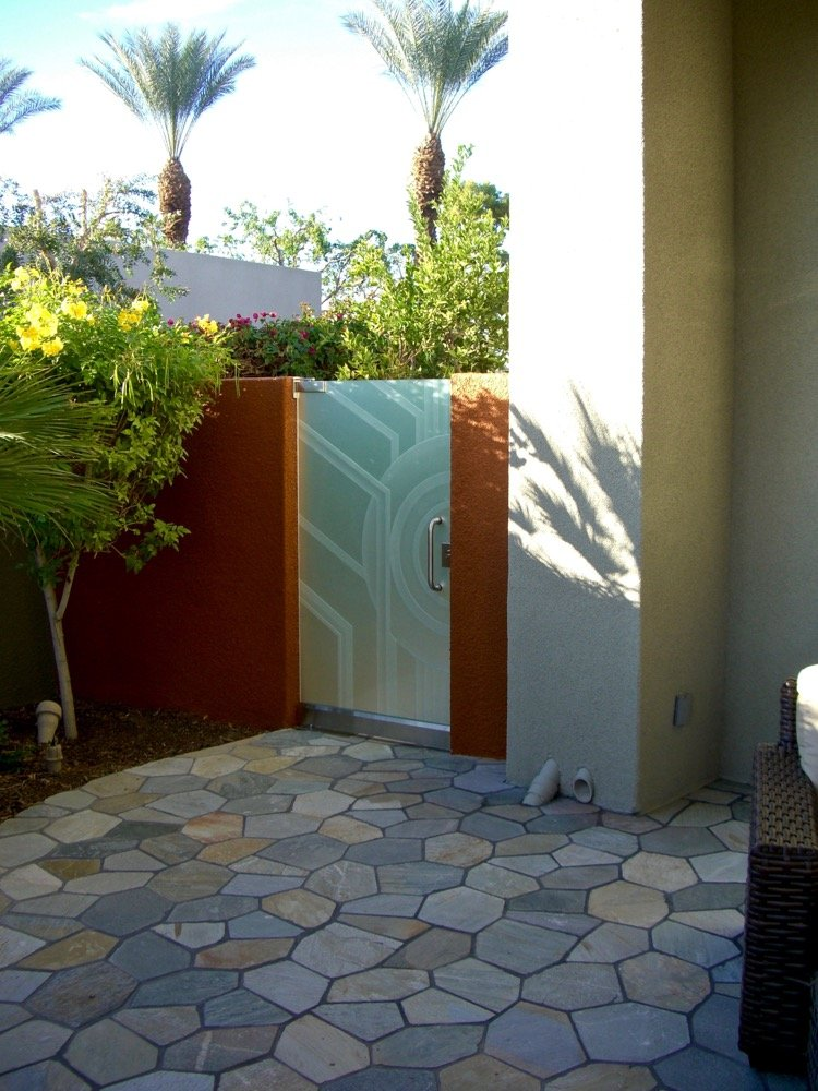 Glass Gates with Frosted Glass Art Deco Sans Soucie