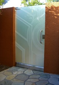 Glass Gates with Frosted Glass Modern Sans Soucie