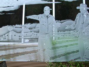 Pony Wall Glass Etching Landscape Sans Soucie