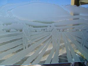 Partition Etched Glass Rustic Sans Soucie