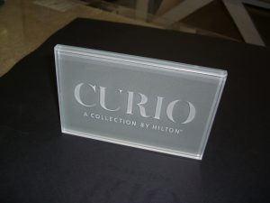 Glass Sign Etched Glass Logo Sans Soucie
