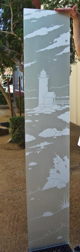 Door Glass Inserts Etched Glass Beach Coastal Sans Soucie