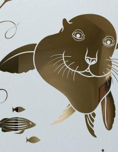 Sans Soucie Front Etched Glass Doors Wildlife sea lion