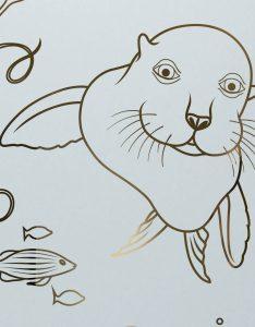 Etched Glass Doors Oceanic sea lion Sans Soucie