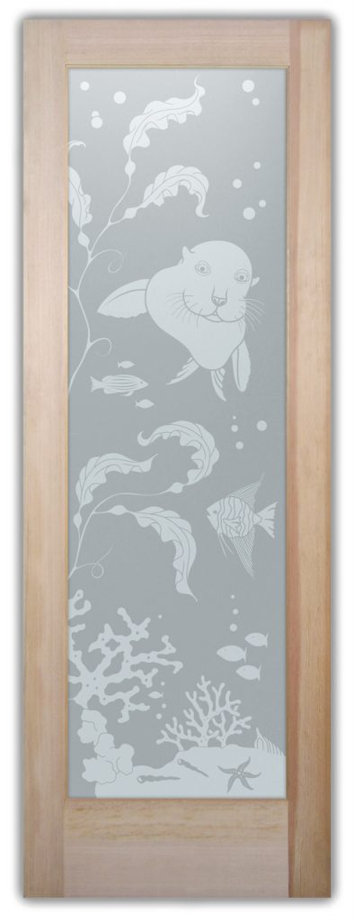 Sans Soucie Etched Glass Doors Wildlife fish