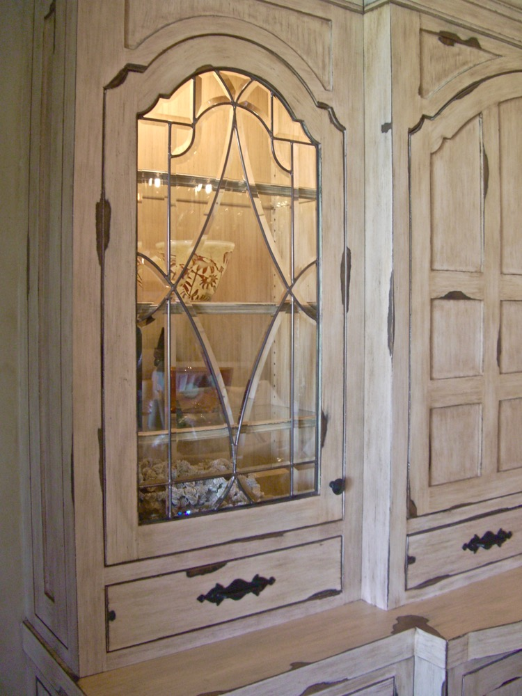 Traditional Leaded Glass Cabinet Inserts | Sans Soucie