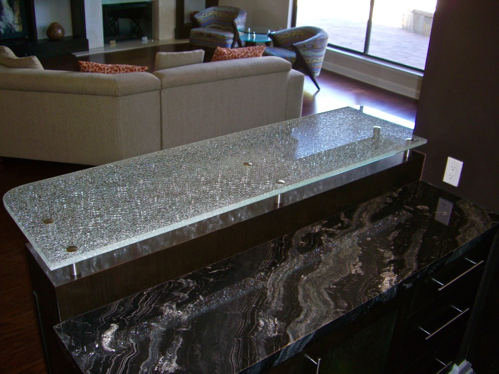 ... Shattered Glass Bar Tops Etched Glass Sans Soucie