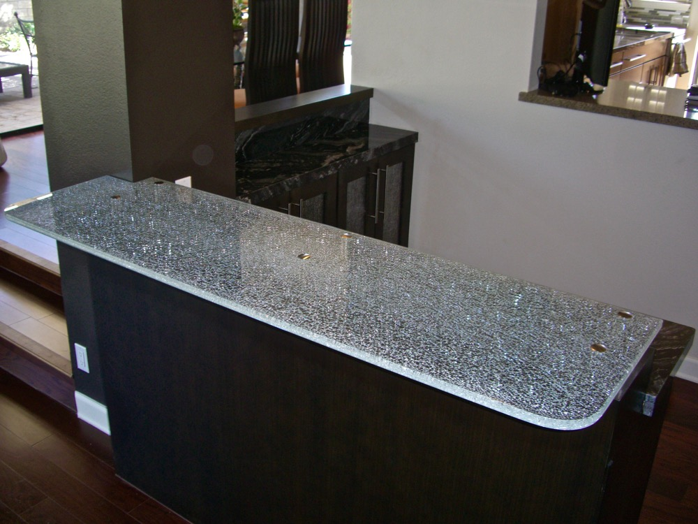 Superbe Shattered Glass Countertops. «