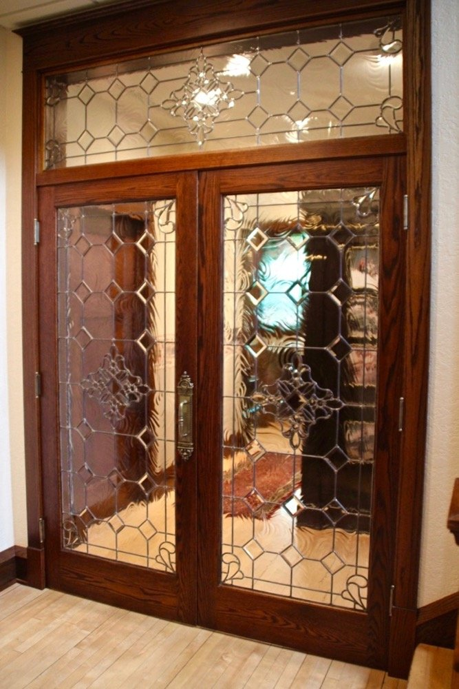 Beautiful Bevels Leaded Glass Door Inserts Sans Soucie