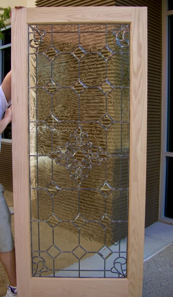 Superbe ... Door Inserts Leaded Glass Mediterranean Bevels Sans Soucie ...