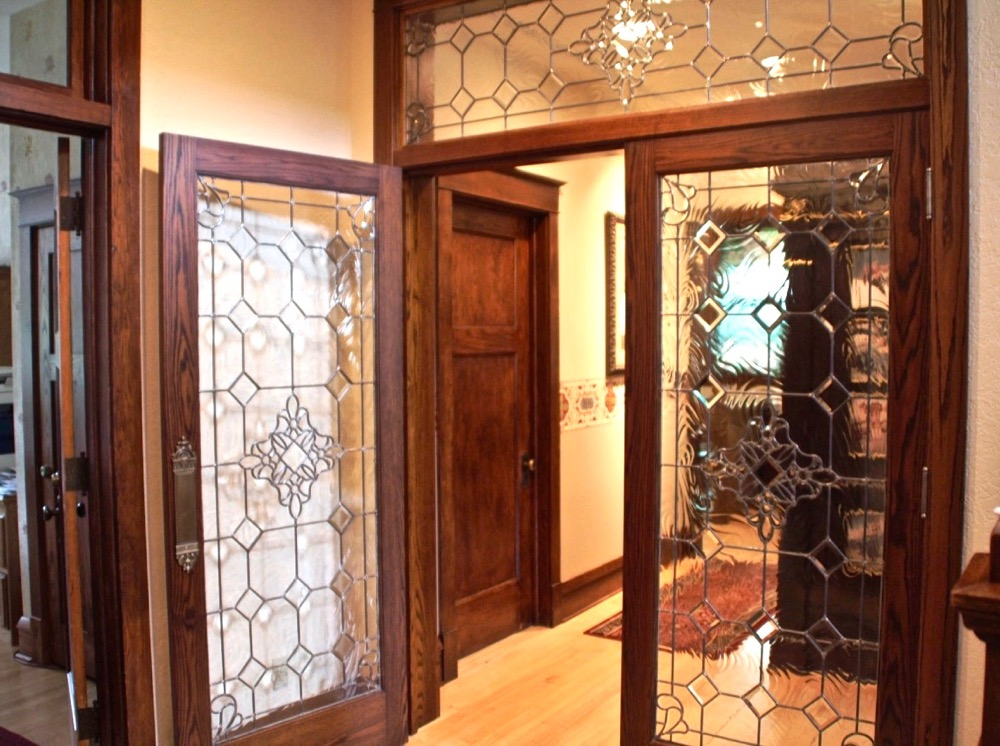Leaded Glass Door Inserts Traditional Bevels Sans Soucie ...