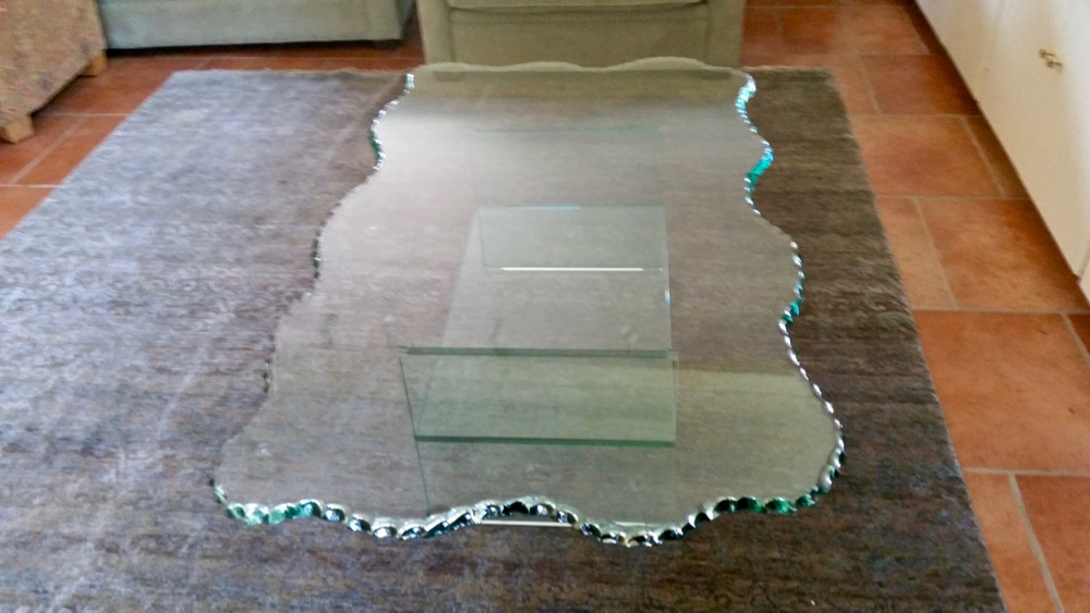 Chipped Edge Glass Coffee Tables Sans Soucie Art Glass