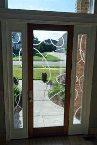 Front Doors Etched Glass Contemporary ovals Sans Soucie