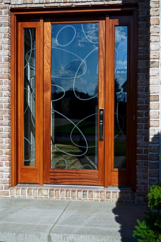 Entry Doors Etched Glass Modern ovals Sans Soucie