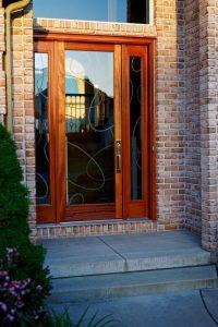 Front Doors Etched Glass Geometric ovals Sans Soucie