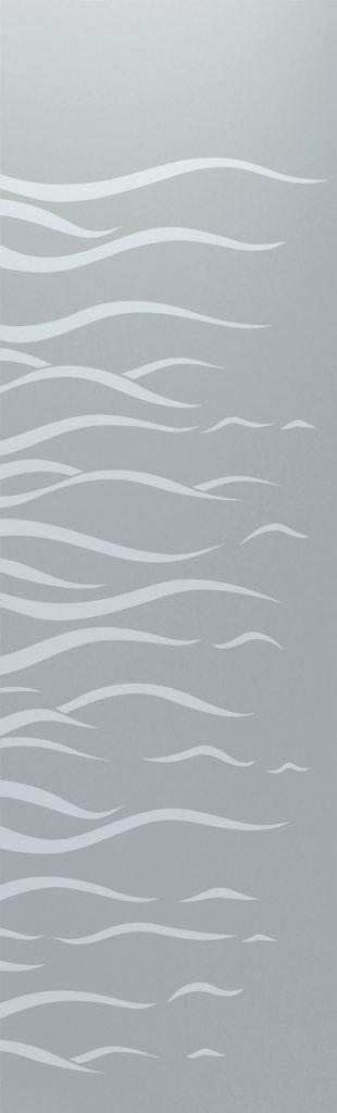 Door Glass Inserts Etched Glass Oceanic sea Sans Soucie