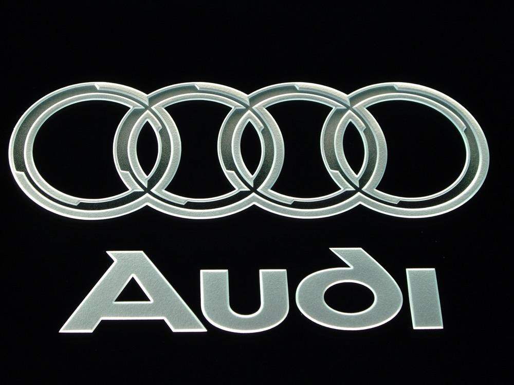 Glass Signs Etched Glass Logo Audi Sans Soucie