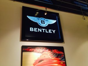 Glass Signs Etched Glass Logo Bentley Sans Soucie