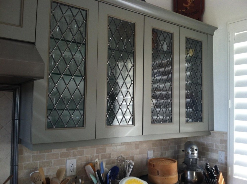 Beveled Squares Cabinet Glass Inserts Sans Soucie Art Glass