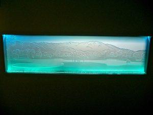 Glass Backsplash Carved Glass Landscape Sans Soucie