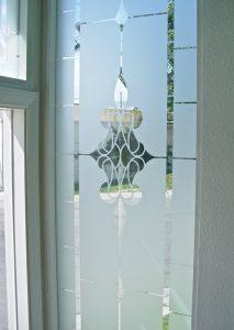 Etched Glass Windows Faux Leaded Sans Soucie