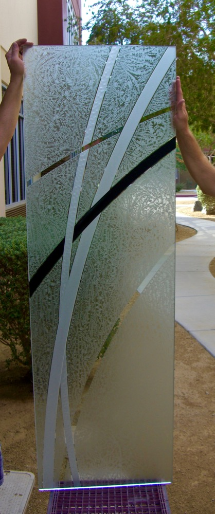Door Glass Inserts Etched Glass Modern Sans Soucie