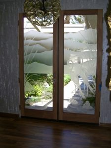 Sans Soucie Etched Glass Doors Wildlife