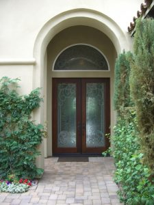 Glass Entry Doors and Transum Etched Glass Tuscan Sans Soucie
