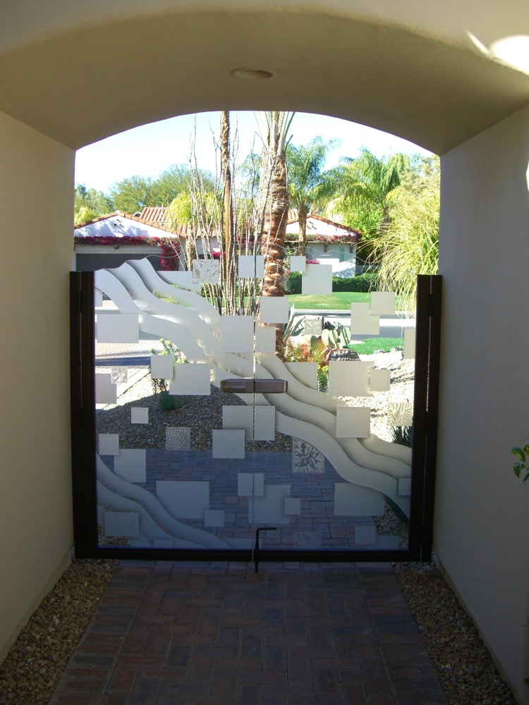 Etched Glass Gates Frosted Glass Geometric Sans Soucie