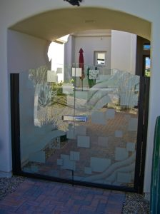Sans Soucie Etched Glass Gates Frosted Glass Geometric
