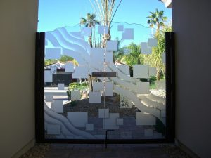 Sans Soucie Etched Glass Gates Frosted Glass Pattern