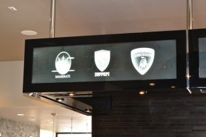 Glass Signs Frosted Glass Logo Ferrari Sans Soucie