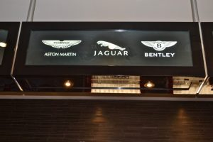 Glass Signs Frosted Glass Exotic Car Logos Sans Soucie