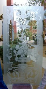 Sans Soucie Door Glass Inserts Etched Glass Floral