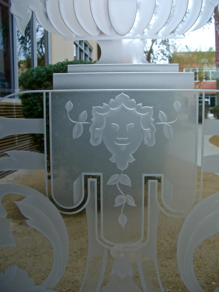 Floral Vase 3d Carved Door Glass Inserts Sans Soucie Art