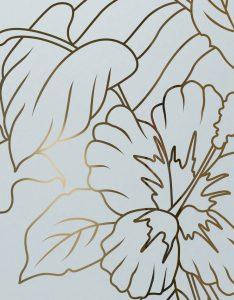 Sans Soucie Etched Glass Doors Floral hibiscus