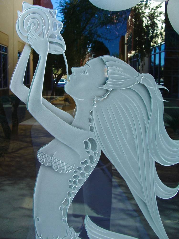 Mermaid 3d Carved Door Glass Inserts Sans Soucie Art Glass