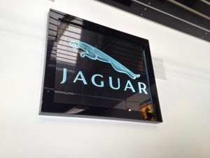 Glass Signs Carved Glass Logos Jaguar Sans Soucie
