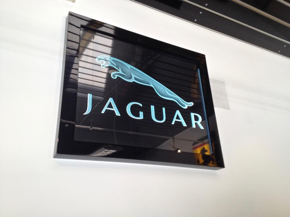 Exotic Car Jaguar 3d Carved Glass Signs Sans Soucie