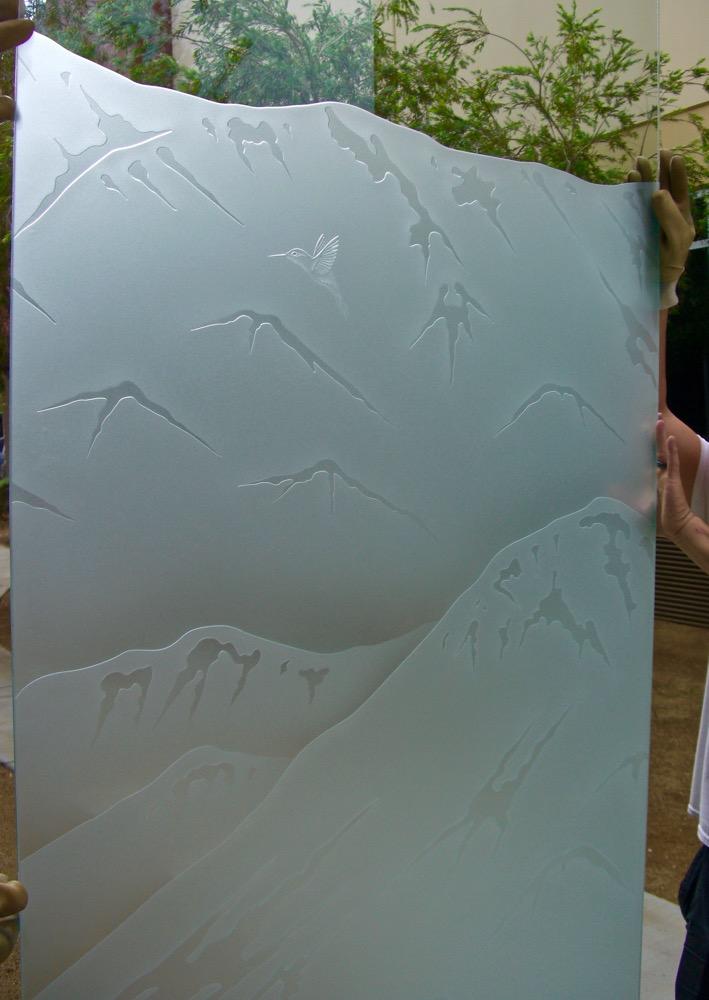 Etched Glass Windows Desert Sans Soucie