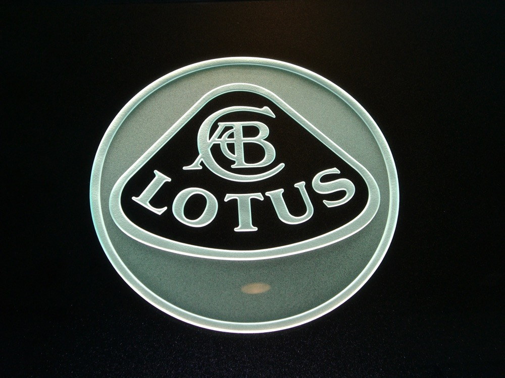 Glass Signs Etched Carved Glass Logo Lotus Sans Soucie