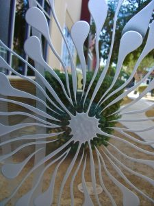 Traditional Door Glass Inserts Etched Glass Floral dandelion
