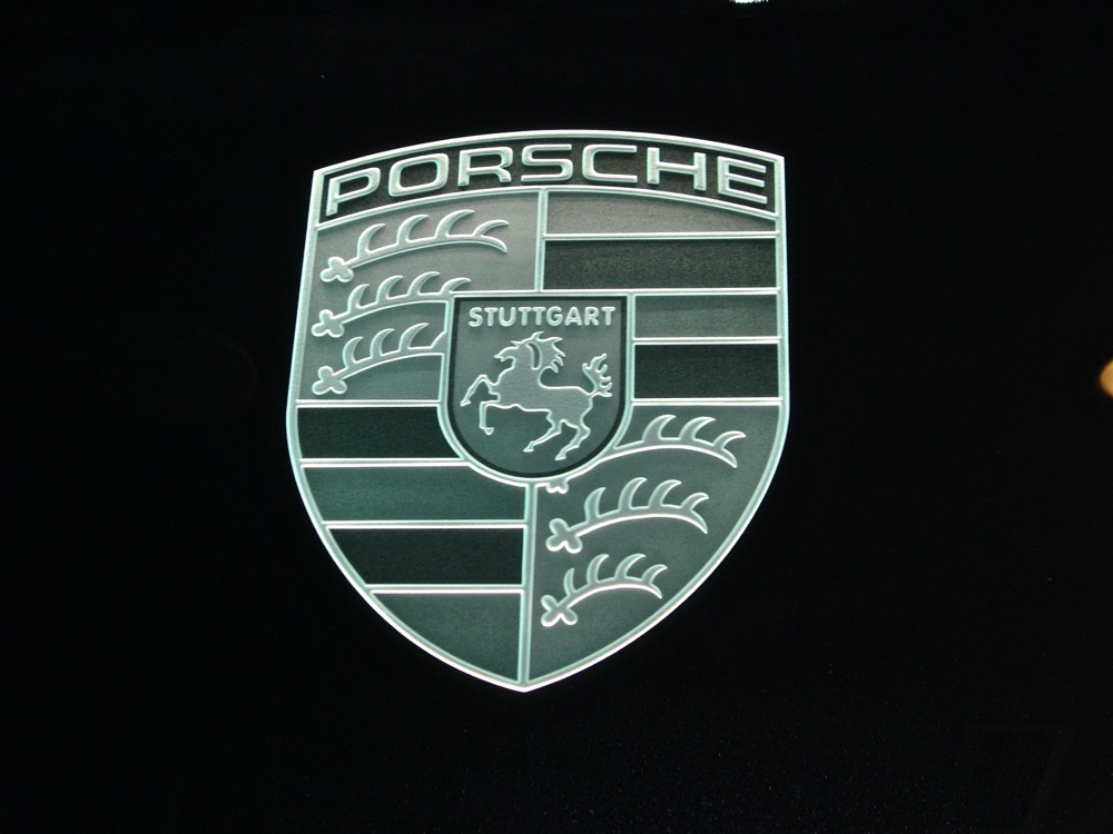 Glass Signs Etched Glass Logo Porsche Sans Soucie